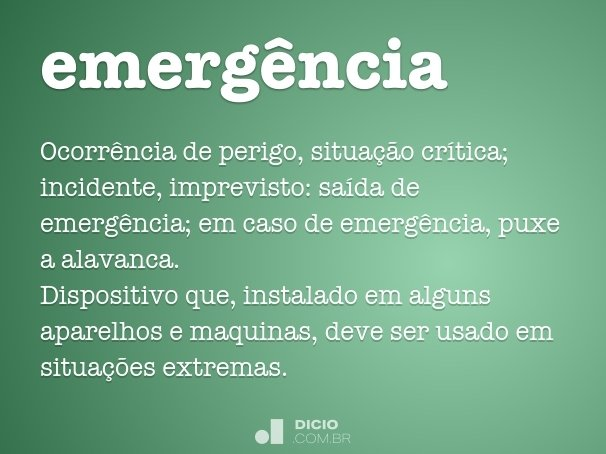 emerg�ncia