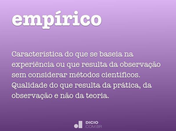 empírico