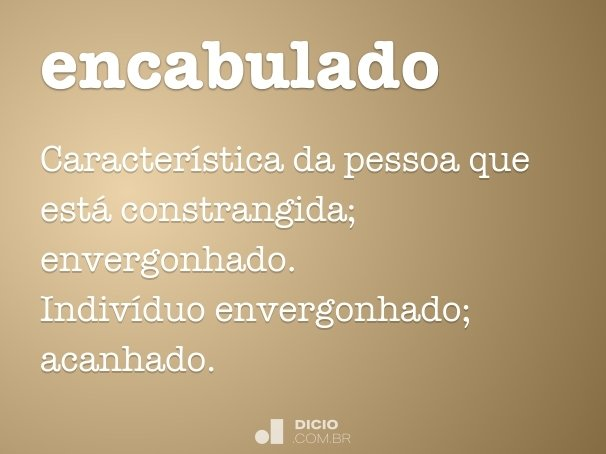 encabulado