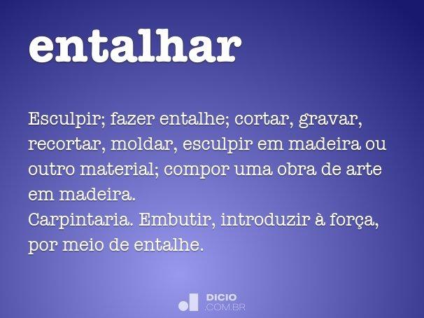 entalhar