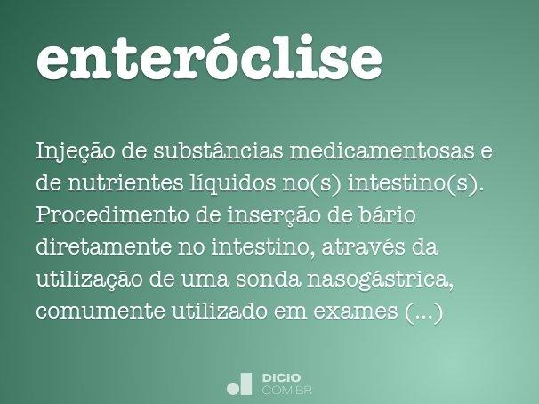 enteróclise