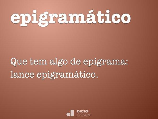 epigram�tico