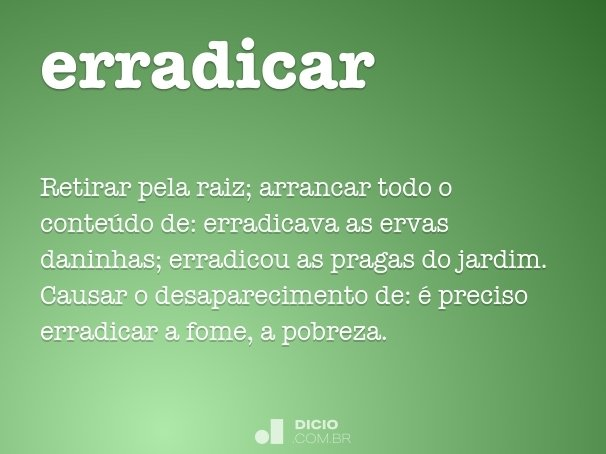 erradicar