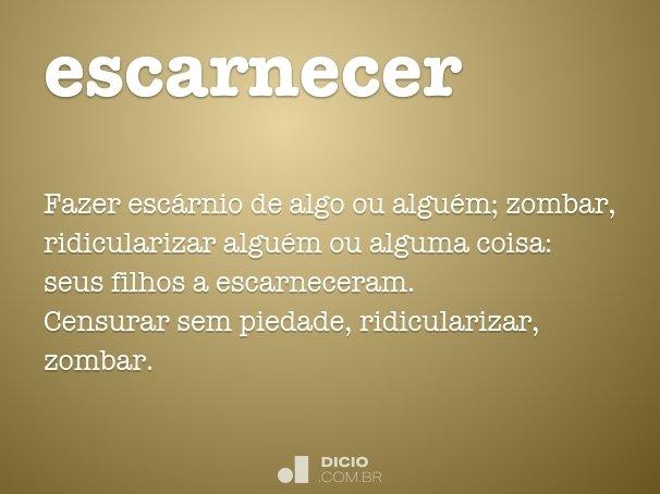 escarnecer