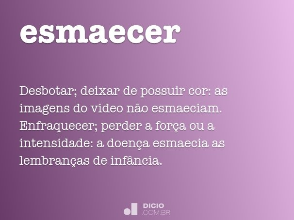 esmaecer