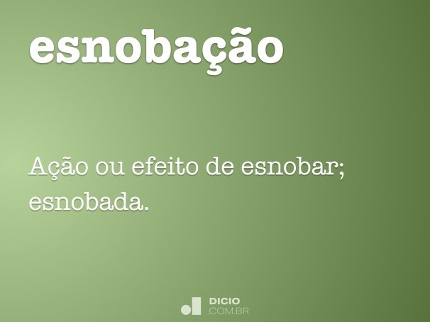 esnobação