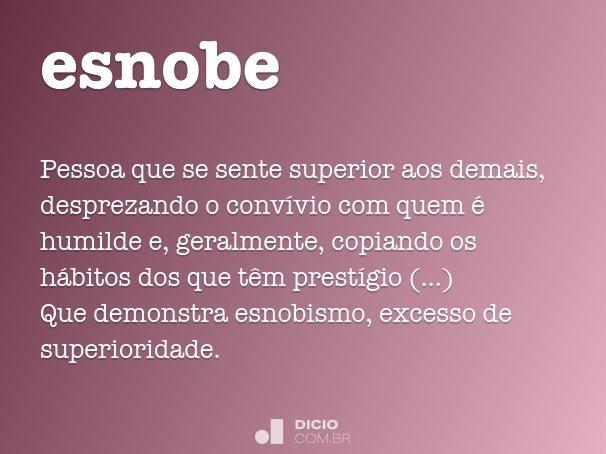 esnobe