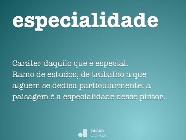 especialidade