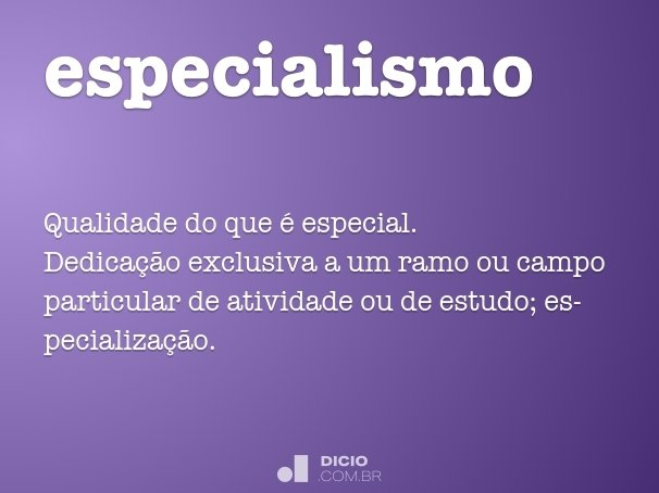 especialismo