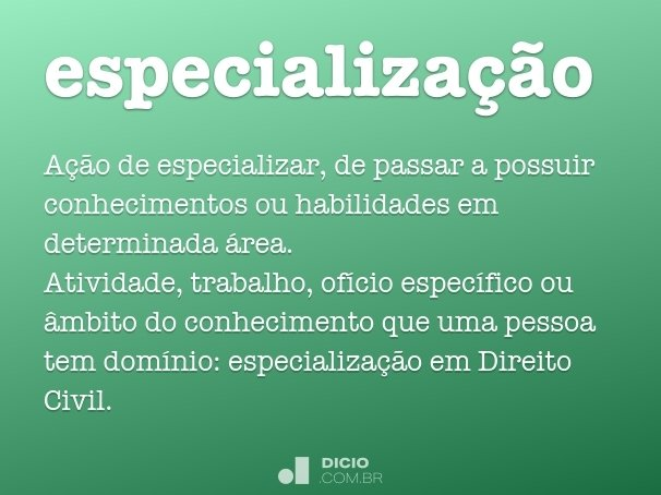 especializa��o