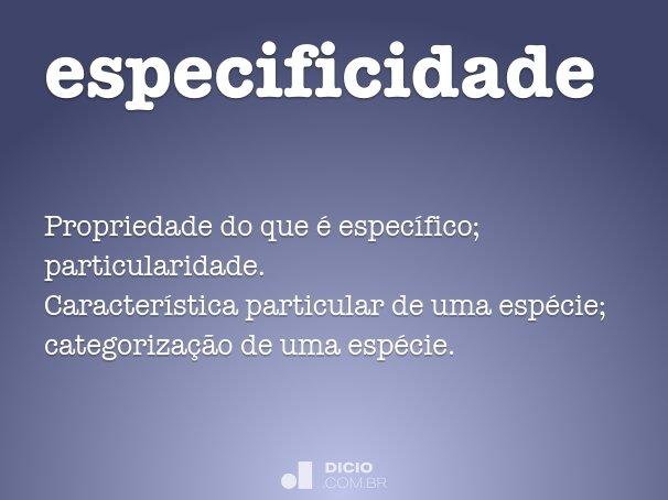 especificidade