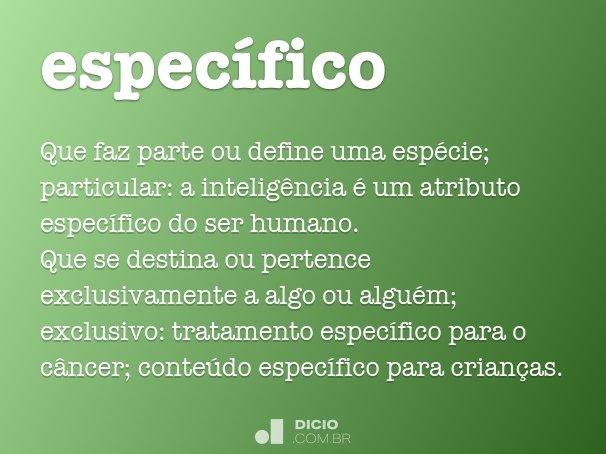 espec�fico