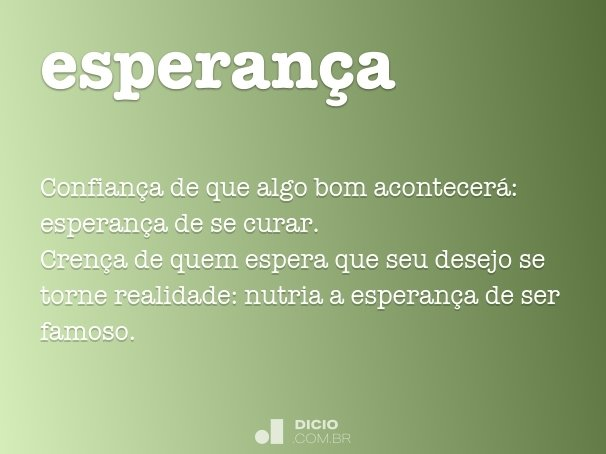esperan�a