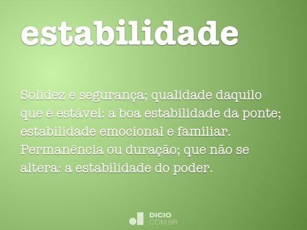 estabilidade