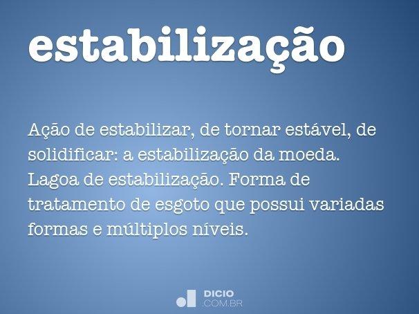 estabiliza��o
