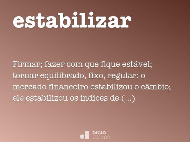estabilizar