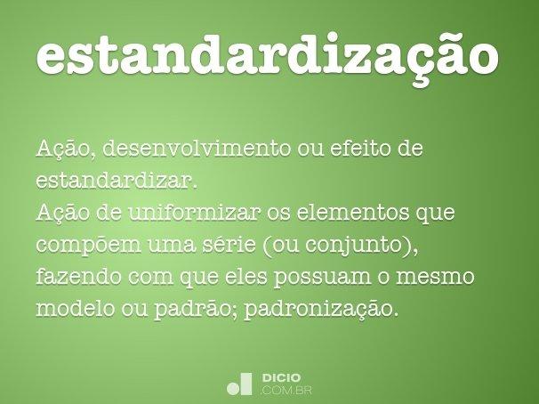 estandardiza��o