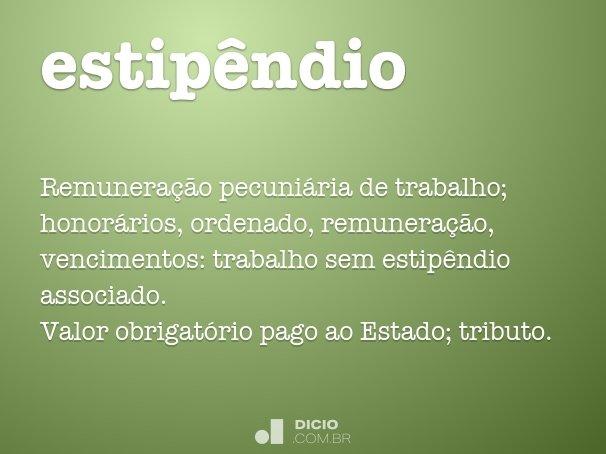 estipêndio