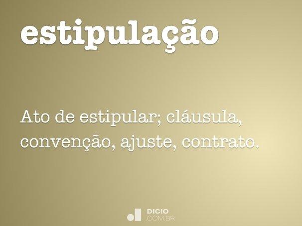 estipula��o