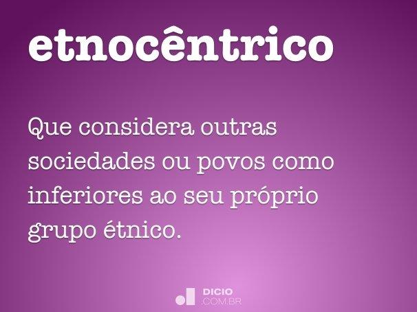 etnoc�ntrico