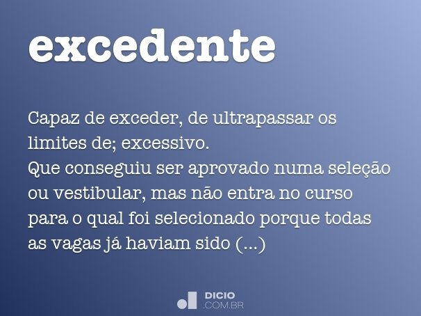excedente