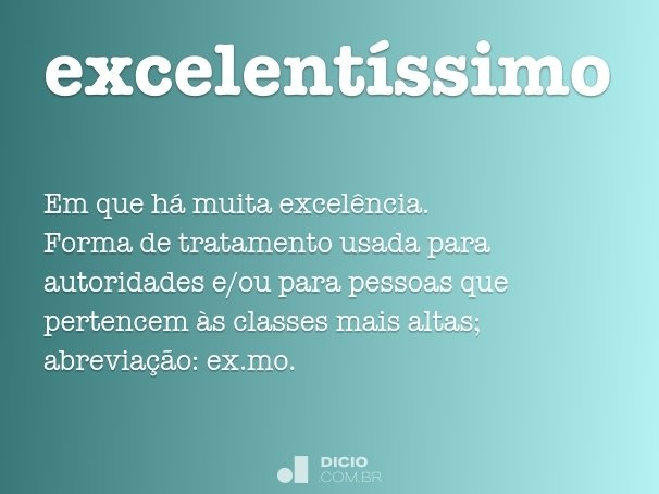 excelent�ssimo