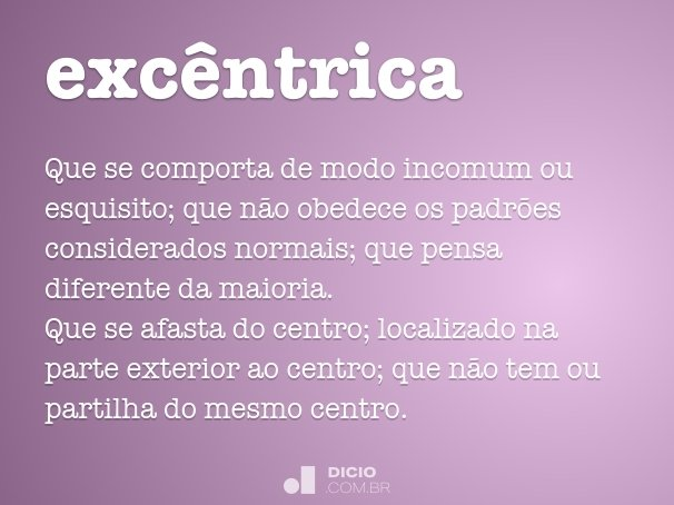 exc�ntrica