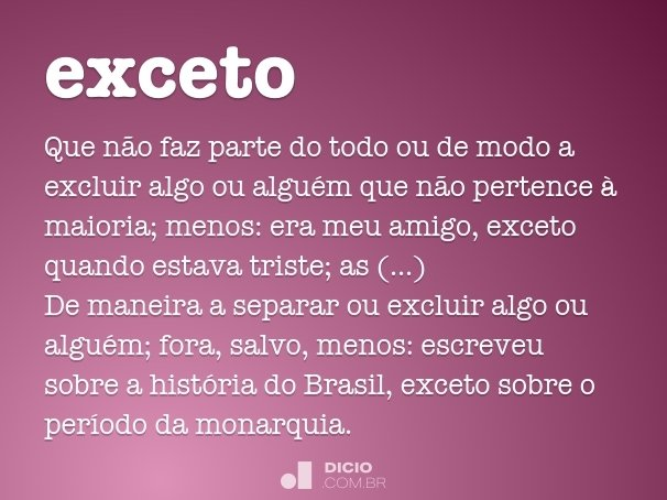 exceto