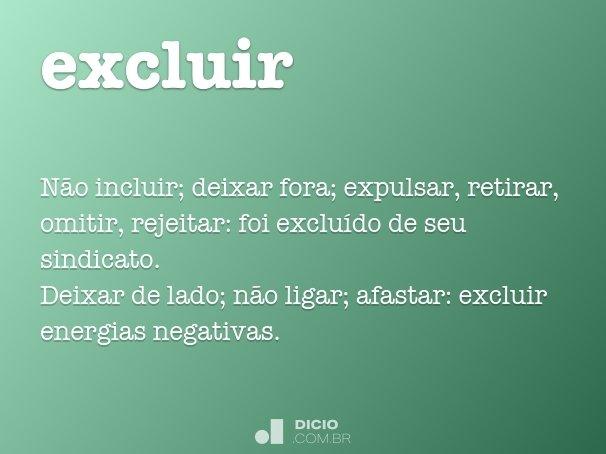 excluir