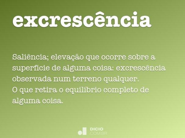 excresc�ncia