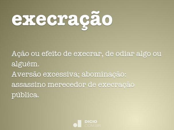 execra��o