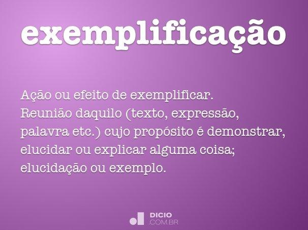 exemplificação