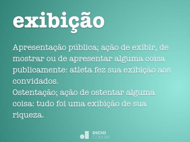 exibi��o