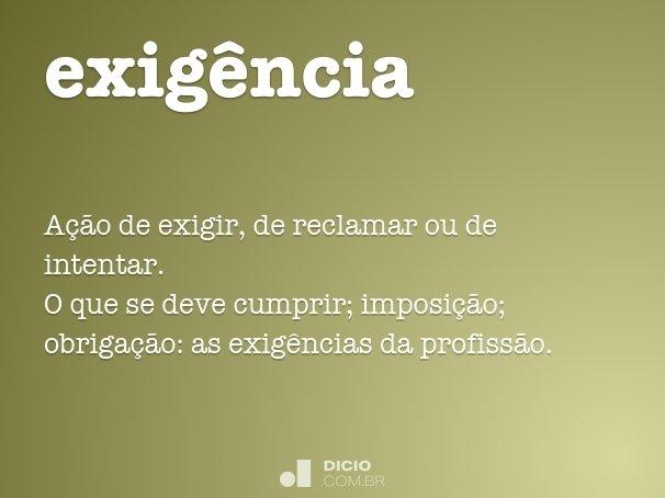 exig�ncia