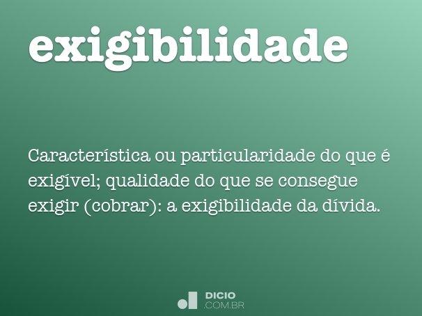 exigibilidade