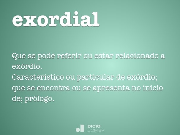 exordial