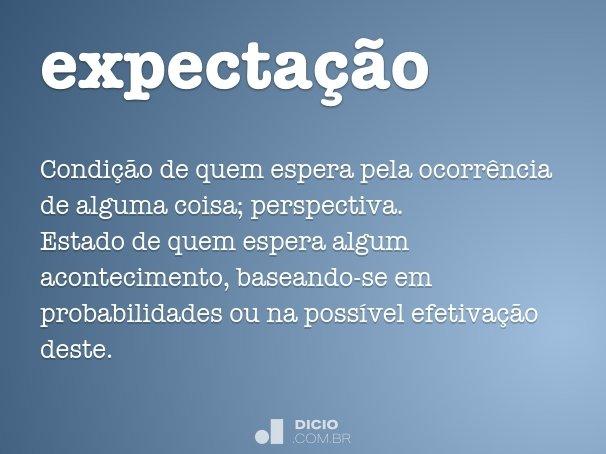 expecta��o