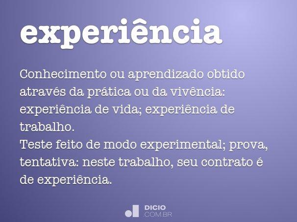 experi�ncia