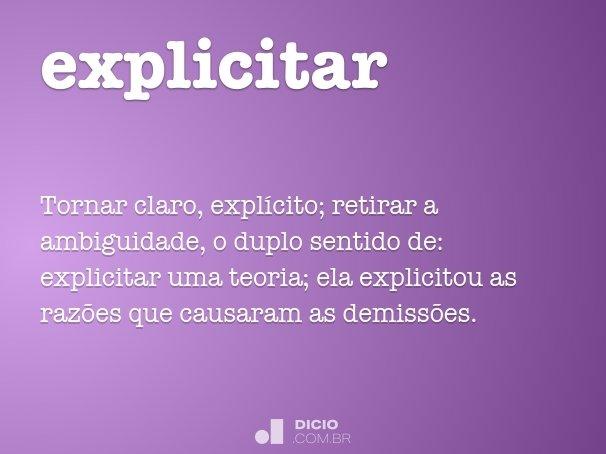 explicitar