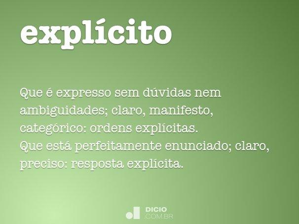 expl�cito