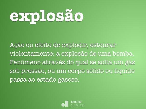 explos�o