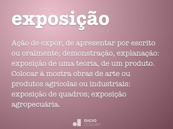 exposi��o
