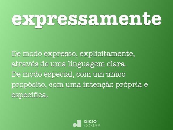 expressamente