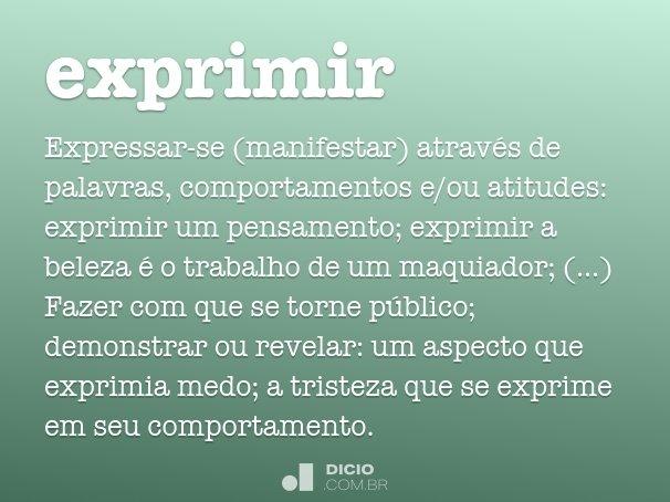 exprimir