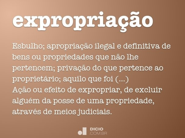 expropria��o