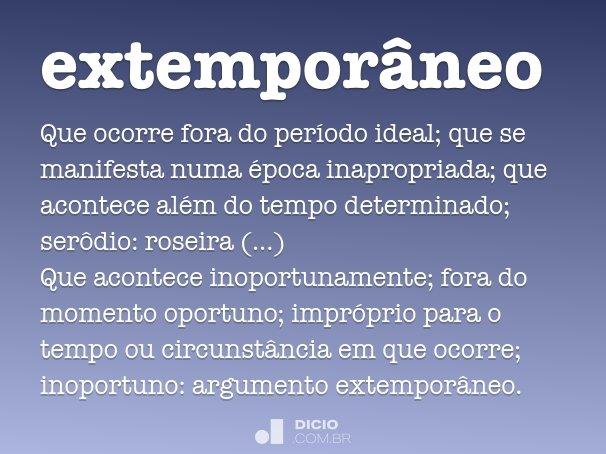 extempor�neo