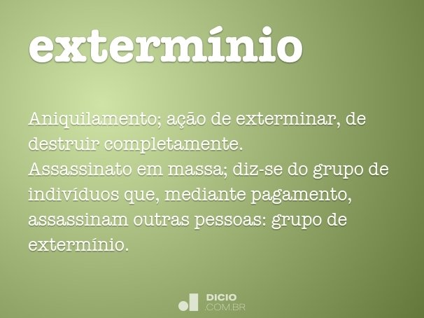 exterm�nio