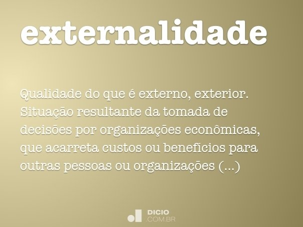 externalidade