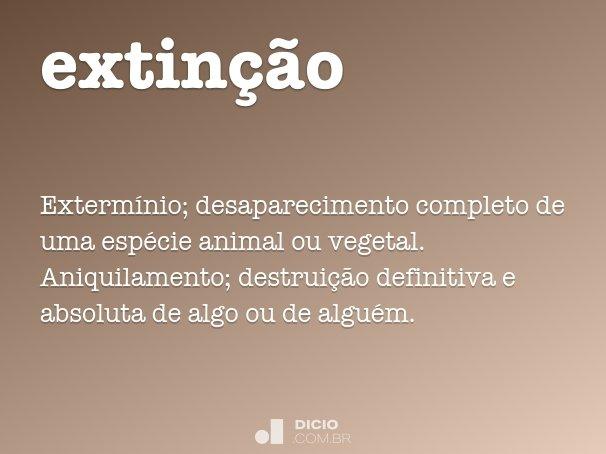 extin��o