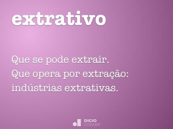 extrativo